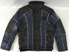 Ed Hardy by Christian Audigier Men's Puffer Blue Black Jacket EHJM7046 Size XL