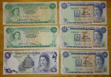 More details for 6x bermuda & bahamas dollar queen elizabeth banknotes