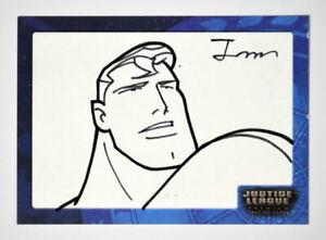 Justice League SK4 SUPERMAN SKETCH CARD #446/450 SIGNED Jong-Myung Bre Inkworks