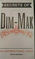 Secrets of Dim Mak -Erle Montaigue Instructional Vhs video-This Is A Vhs Tape