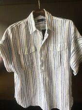 Polo Ralph Lauren Women's Linen Short Sleeve Shirt Sz L NWT $79.9 stripes