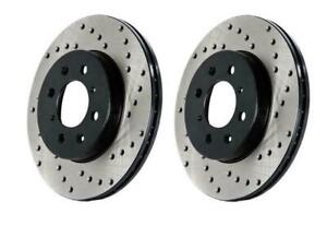 StopTech Front Disc Drilled Brake Rotors for 13-14 Mustang Shelby GT500