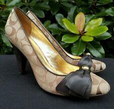 "COACH ""ALAINA"" Women's Brown Signature Classic Pumps/Heels Shoes Size 10"