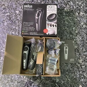 Braun, Series 7 Beard Trimmer & Shaver, Gray & Black - Open Box *Read*