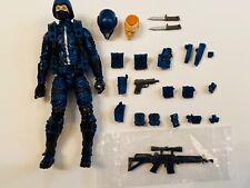 "MTF Blue 4"" Action Figure Marauder Task Force Kickstarter Cobra Trooper GI Joe"