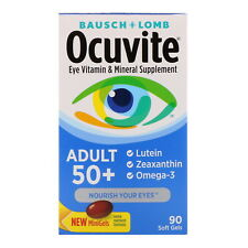Bausch & Lomb Ocuvite Adult 50 Eye Vitamin Mineral Supplement 90 Soft Gels