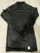 Mens Thermal Mockneck Base Layer Nike Pro Combat Black Size M Excellent Conditio