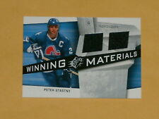 2008-09 SPX Winning Materials Dual Jersey Hockey Card # WM-PS Peter Stastny