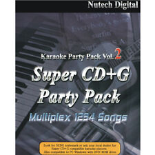 Nutech Karaoke Super CD+G 1234 Tracks Vol-2 it Plays on Cavs or Window PC New