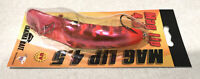 MAG LIP 4.5 UV Yakima Bait PUNCH CARD Plug Lure METALLIC PINK FLO RED NEW USA