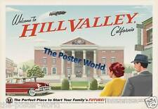 Back To The Future Movie Hill Valley Picture Poster Home Art Print / Wall Decor