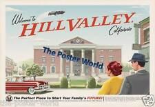 Retour vers le futur film hill valley photo poster home art print/wall decor