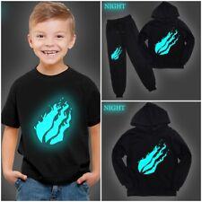 Prestonplayz Luminous Long Sleeve Hoodie Kids Short Sleeve T-shirt  Shirt Top