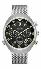 Bulova Accutron II Men's 96B236 Lobster Chronograph UHF Quartz Mesh Band Watch