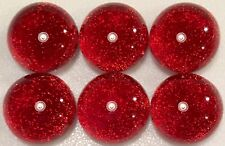 TWINKLE Round SUNSET CORAL Fused Glass DICHROIC Cabochons NO HOLE Beads flat bk