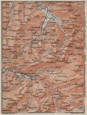 Muotathal Pragel & Sihltal. Silbern liedernen (kaiserstock) IBERG 1909 OLD MAP