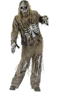 Adults Zombie Skeleton Walking Dead Halloween Fancy Dress Costume