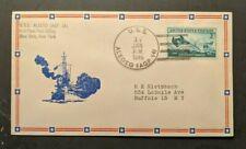 1946 USS Alecto AGP 14 Navy Cover to Buffalo NY Ship Cancel