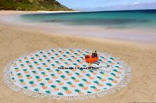 100% Cotton Round Tapestry Hippie Throw Indian Roundie Towel Yoga Mat Tablecloth