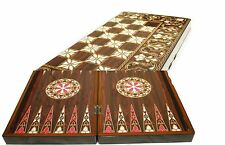 Backgammon  Yenigun Turkish Set Game Case, Wooden Board 15""