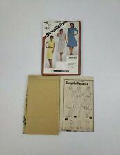Simplicity 5444 Misses' Pullover Dress Pattern Slim or Flared Skirt Sz 16 UNCUT