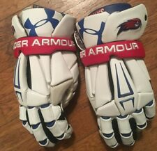 Umass Lowell Riverhawks Under Armour Pro Command Pro Lacrosse Gloves team-issued