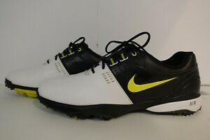 Men's Nike Air Rival III 3 White Black Green Golf Shoes 628533-100 Size 9 READ