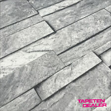 EUR 1,93/qm / Steintapete / Steinoptik Tapete / Steinwand grau / Ideco A17202