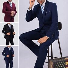 3Pcs Set Mens Wedding Dress Slim Fit Suit Business Formal Men's Clothing Suits r