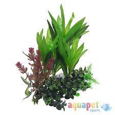 AQUARIUM FISH TANK realistica delle piante con aria pietra Set di 3 33 cm 17cm 8cm