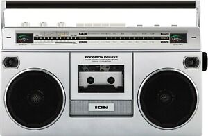 ION iSP112 Portable Stereo Cassette/Stream Wireless Boombox - New