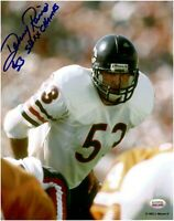 Dan Rains Chicago Bears Autographed 8x10 Football Photo With Inscription