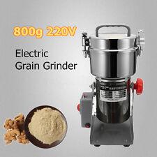220V 800g Electric Grain Cereal Herbs Spice Mill Grinder Flour Powder
