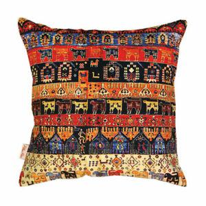 "Persian Rug Inspired Multi Animal Print Cushion Cover 43x43cm-16""x16""-50%OFF..."