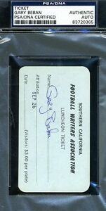Gary Beban Signed Psa/dna Authenticated Ucla 1967 Name Tag Autograph