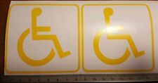 DISABLED SIGN TAXI CAR WINDOW DECAL STICKER VINYL MOBILITY DISABLED X 2 NORM