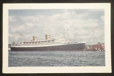 ss Nieuw Amsterdam . Holland America Line HAL Boat Cruise Ship Rotterdam Harbor