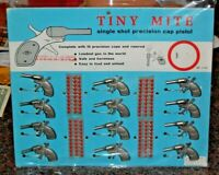 Vintage/Complete Retail Display Board of (12) Tiny-Mite Cap Guns
