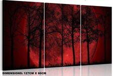 Big Red Moon - SPLIT FRAMED CANVAS PRINTS !!! Modern Art