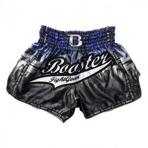 Booster Muay Thai Shorts Laybyrint 1, schwarz-blau   Gr M