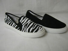 Canvas Animal Print Slip On Shoes for Women