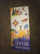 AUTO TOUR SERVICE Folder + 3 Maps /Sinclair/USA,TX,OKLA,NM, MEX,KEN,TENN/  1950s