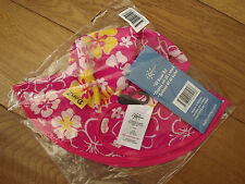 Nuevo Banz Bebés Niñas 50cm 0-2 año Sol Sombrero reversible de protección solar UV Rosa