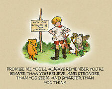 Winnie The Pooh And Christopher Robin Canvas Art 16 x 20