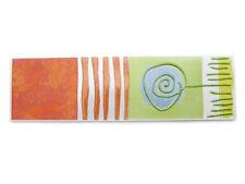 Fliesenbordüren 24,7x7cm Fliesenbordüre Keramikbordüre Bordüre Scenery T3 orange