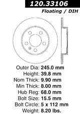 Audi A4 & Quattro REAR  Centric 120.33106 Disc Brake Rotor  2003-2006