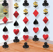 Casino Party hanging string decorations Cards Vegas Poker Playing Cards FREE P&P