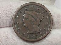 1845 Braided Hair Large Cent.  #24