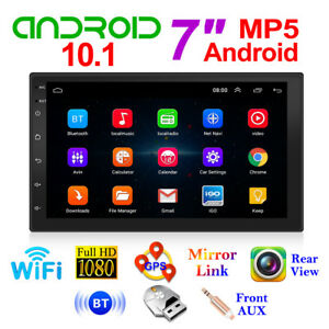 "7"" 2Din Android 10.1 Car MP5 Player FM Radio GPS WiFi BT Head Unit Touchscreen"