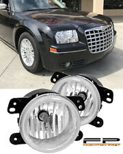 2005-2010 Chrysler 300 Touring Fog Lights Clear Lens 3.5L Front Bumper Lamp PAIR